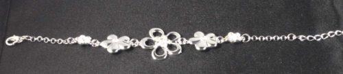Armband Strass silverlook bloem