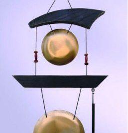 Dubbele windgong Zen 12 en 8½ cm + klopper