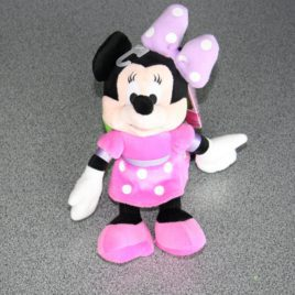 Feestende Minnie Mouse in pluche 20 cm