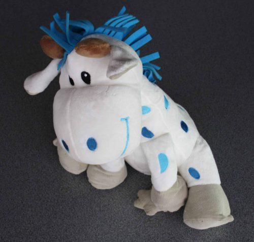 Giraf in pluche 32 cm blauw