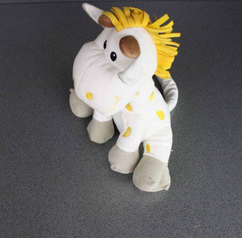 Giraf in pluche 32 cm geel