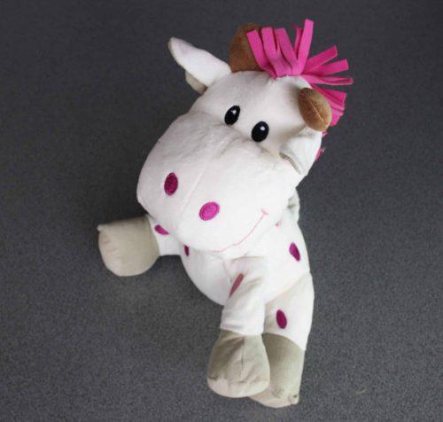 Giraf in pluche 32 cm roze