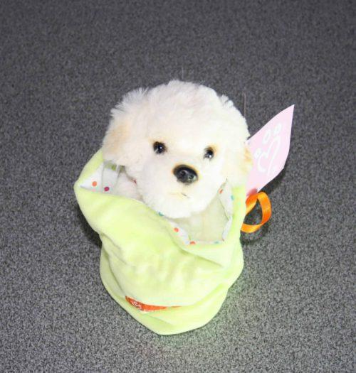 Hond in zakje groen