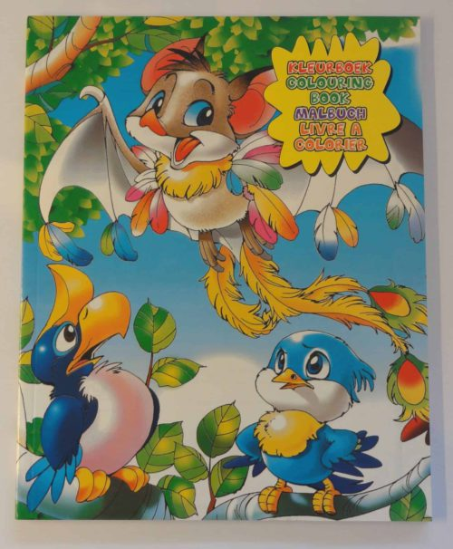 Kleurboek 96 pagina's Vogeltjes