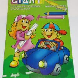 Kleurboek GIANT Auto, 208 pagina's