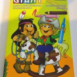 Kleurboek GIANT Cowboy, 208 pagina's