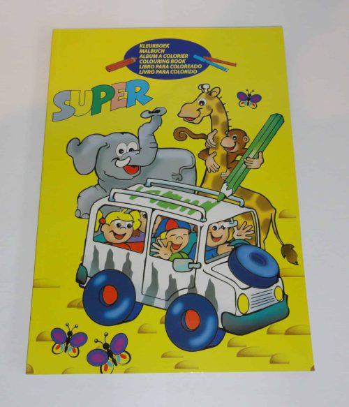 Kleurboek SUPER Safari, 112 pagina's
