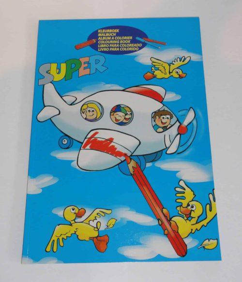 Kleurboek SUPER Vliegtuig, 112 pagina's