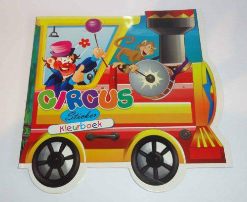 Kleurboek voertuigen Circus - originele kleurboek