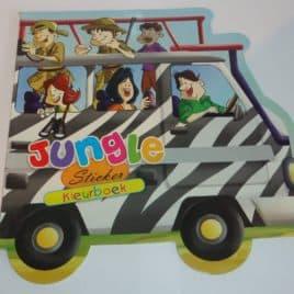 Kleurboek voertuigen Jungle - originele kleurboek!