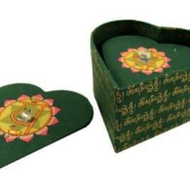 Kostbaarheden hartchakra's dozen set 14 x 13 x 8 cm