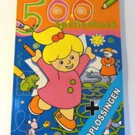 Leuke spellenboeken met 500 spellen - oranje