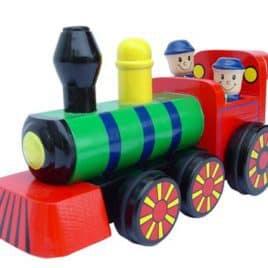 Locomotief Bewegende poppetjes