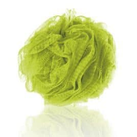 Mesh Spons Luxe 50 gram Limoengroen