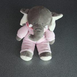 Olifantje in roze pluche 25 cm