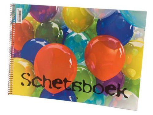 Schetsboek ballon A4, met spiraal
