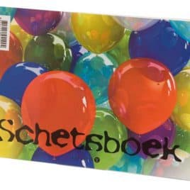 Schetsboek ballon A5, met spiraal