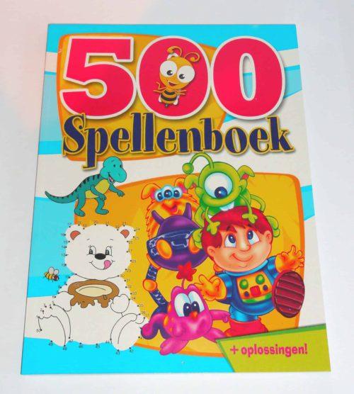 Spellenboek Blauw - Boordevol leuke en educatieve spelletjes