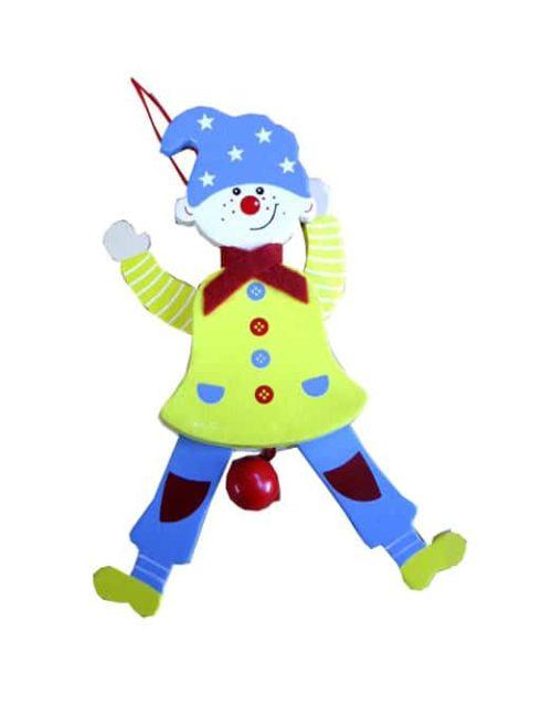 Trekpop Clown met blauwe muts