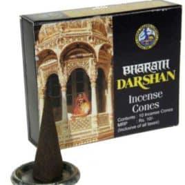 Wierook kegeltjes Darshan (doosje met 10 kegeltjes)