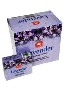 Wierook kegeltjes Lavender (doosje met 10 kegeltjes)