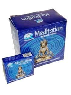 Wierook kegeltjes Meditation (doosje met 10 kegeltjes)