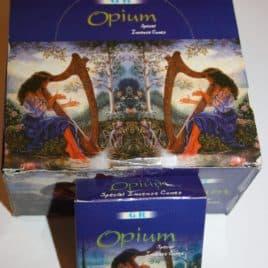 Wierook kegeltjes Opium (doosje met 10 kegeltjes)