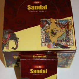 Wierook kegeltjes Sandal (doosje met 10 kegeltjes)