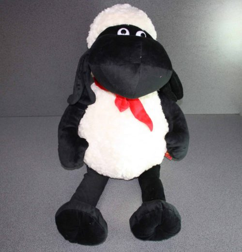 Zwart schaap pluche 80cm