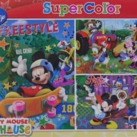 Disney Puzzel 3 x 48 stukjes Mickey Mouse ClubHouse