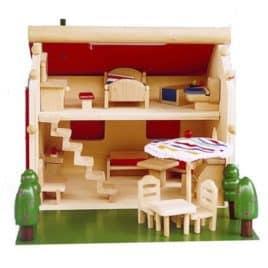 Draagbox compleet poppenhuisje