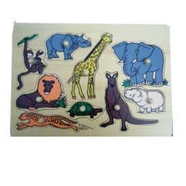 Knoppuzzel 9 dieren met aapje