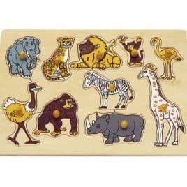 Knoppuzzel 9 dieren met giraf