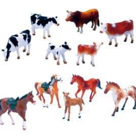Koe en Paarden Speelset 2 Ass.
