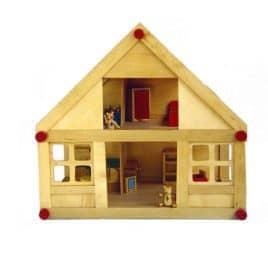 Poppenhuis+meubels, 40x26x37 cm