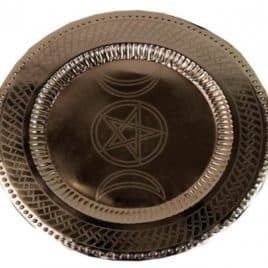 Puja en rituelen dienblad Pentagram
