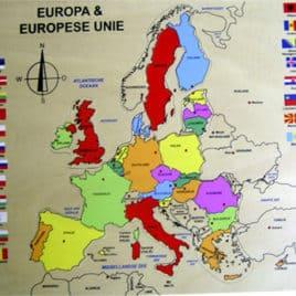 Puzzel Europa (vernieuwde versie) hout