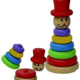 Pyramide clown stapelspel