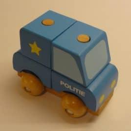 Stapelbare auto Politieauto