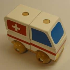 Stapelbare auto Ziekenwagen