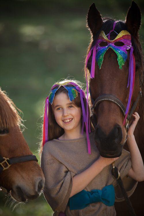Seedling Mijn vlindermasker meisje paard