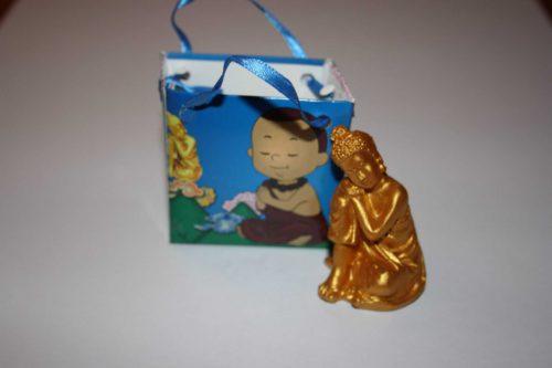 Boeddha geschenk blauw detail