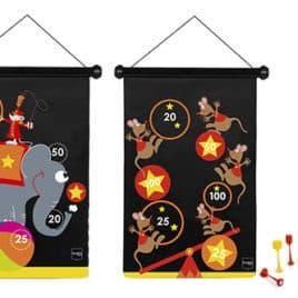 scratch magnetische darts circus overzicht