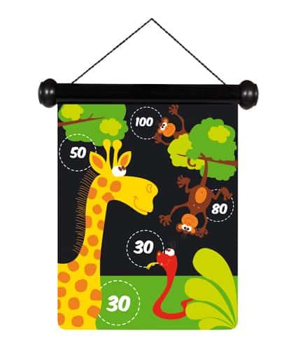 scratch magnetische darts zoo giraf