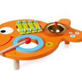 scratch muziektafel vis zijkant bovenaanzicht