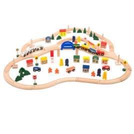 705006 grote houten treinset