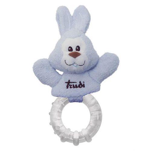 Trudi bijtring konijn lichtblauw