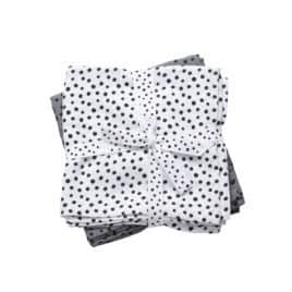 Done By Deer Swaddle Happy Dots Dekentje Grijs 120x120 cm - Set2
