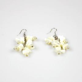 Oorbellen Witte Steentjes Parels
