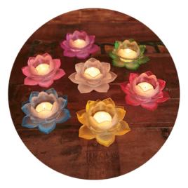Sfeerlicht Lotus Glas - Set 7 Stuks Sfeer